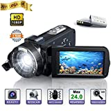 Camara de Video, Videocamara Full HD- YUNDOO Full HD 1080p 24.0MP Videocámara Digital, 3.0 Pulgadas...