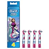 Oral-B Stages Power - Pack de 4 cabezales de recambio para cepillo eléctrico, diseño Frozen
