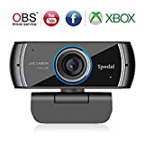 Spedal Full HD Webcam 1080p, Streaming Cámara Web con Micrófono, USB Webcam para Xbox OBS XSplit...