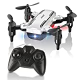 HELIFAR Mini Drone Plegable, H815 RC Drone Night Light Flying RC Quadcopter, One Key Return, Modo...