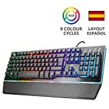 Trust Gaming GXT 860 Thura - Teclado Gaming LED semi mecánico, color negro